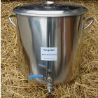 Stainless Steel Pan (32 litre) + tap and hop strainer