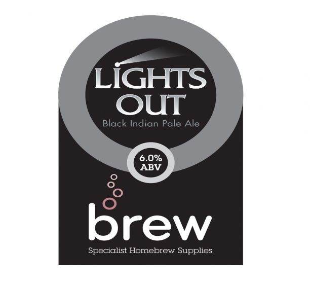 Lights Out Black IPA Extract Recipe Pack