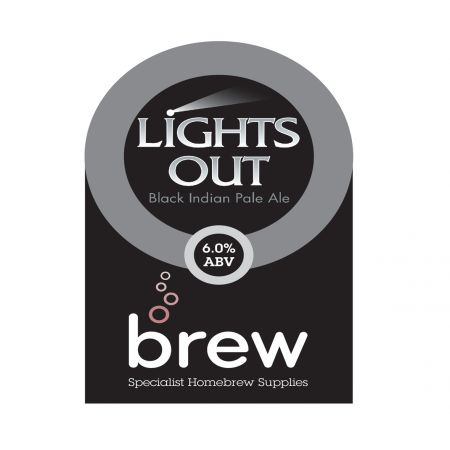 Lights Out Black IPA AG Recipe Pack