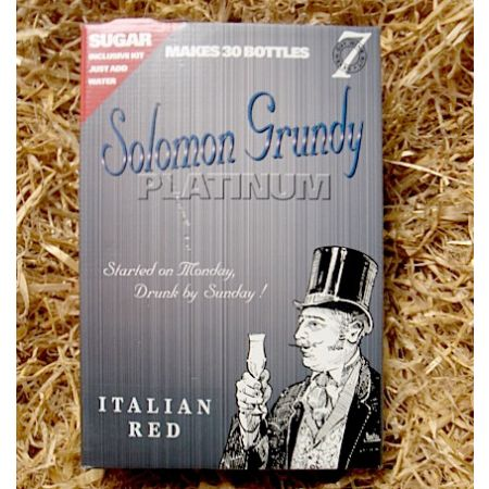Solomon Grundy Platinum 30 Bottle Italian Red/Cantia