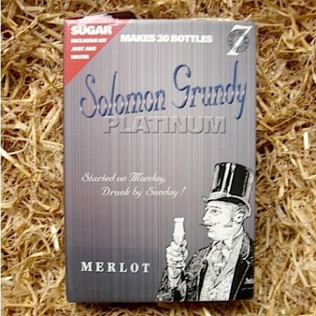 Solomon Grundy Platinum 30 Bottle Merlot