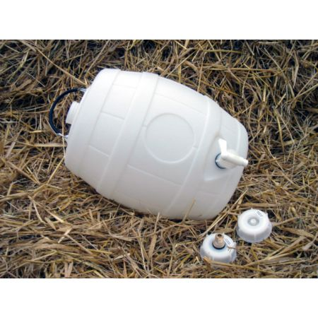 5 Gal Basic White Barrel, Pin Valve Cap & Sparkler Tap