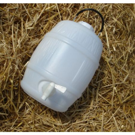 2 Gal Basic White Barrel with Vent Cap