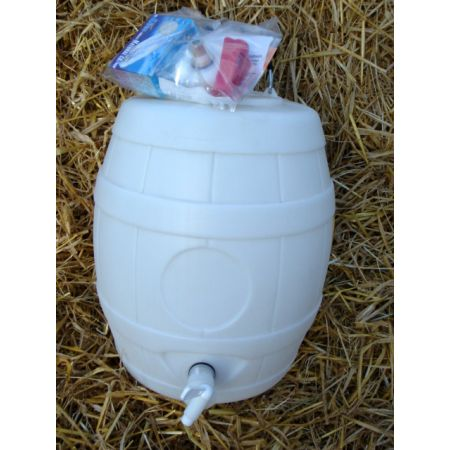 5 Gal Basic White Pressure Barrel with CO2 Injector System & 10 Bulbs