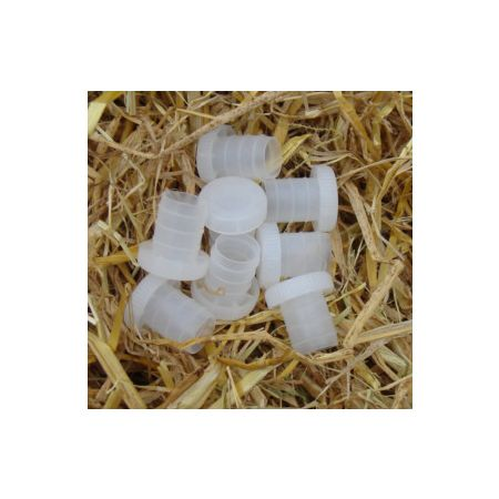 Plastic Wine Corks Clear - Re-Useable   (25's)
