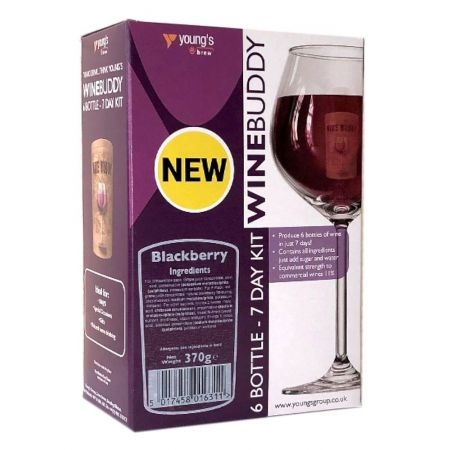Youngs Winebuddy Blackberry 6 Bottle Kit