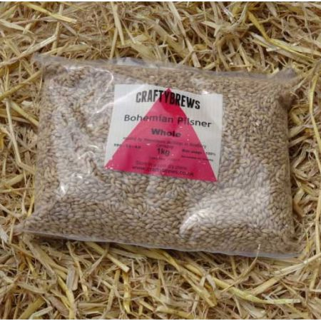 Bohemian Pilsner Malt WHOLE 1kg