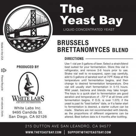 Yeast Bay Wlp4613- Brussels Brettanomyces Blend
