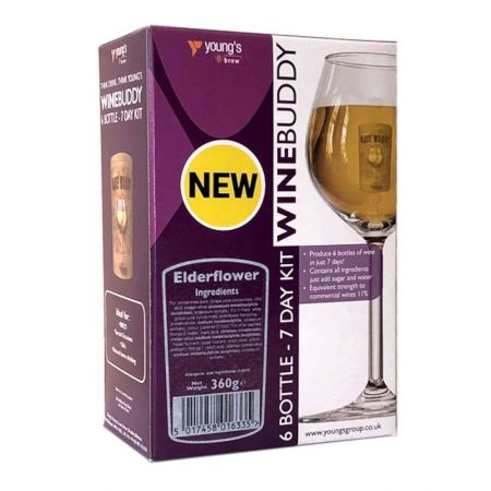 Youngs Winebuddy Elderflower 6 Bottle Kit
