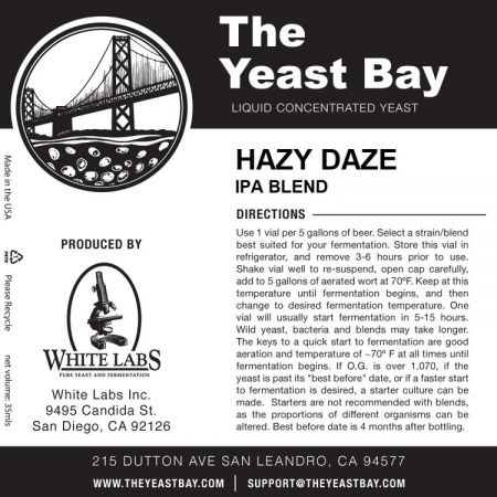 Yeast Bay WLP4042 - Hazy Daze