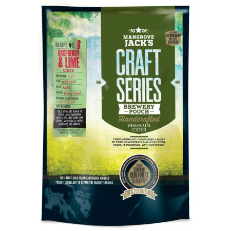 Mangrove Jack's Craft Series Raspberry and Lime Cider Pouch - 2.4kg