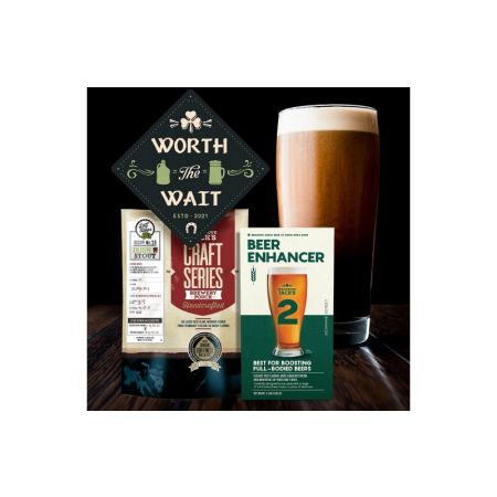 Mangrove Jack's Irish Stout with Beer Enhancer 2 Brew Day Package