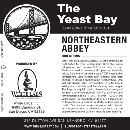 Yeast Bay  Wlp4015 - Northeastern Abbey