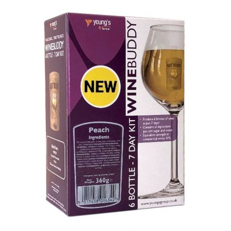 Youngs Winebuddy Peach 6 Bottle Kit