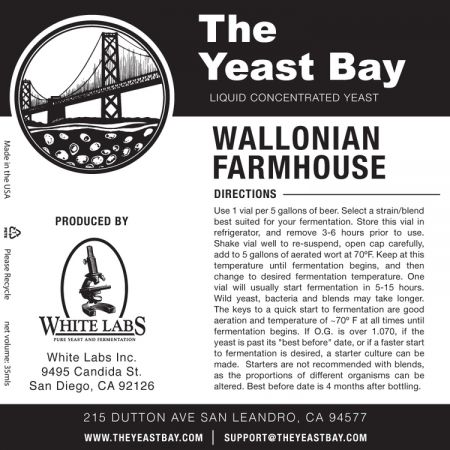 Yeast Bay Wlp4020 - Wallonian Farmhouse